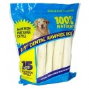 Rawhide Dental Rolls - 15 pk/ 3.7 lbs