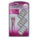 Quattro® for Women Razor + 12 Cartridges