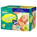 Pampers - Swaddlers - Size Newborn (up to 10 lbs.), 108 ct.