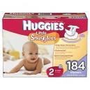 Huggies - Supreme Little Snugglers, Size 2 (12-18 lbs.), 184 ct.