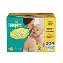 Pampers - Swaddlers, Size 2 (12-18 lbs.), 204 ct.