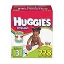 Huggies - Snug 'n Dry Diapers, Step 3 (16-28 lbs), 228 ct.