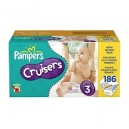 Pampers - Cruisers, Size 3 (16-28 lbs.), 186 ct.